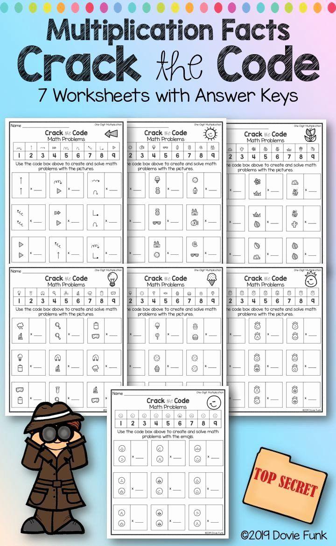 Cracking the Code Math Worksheets Elegant Pin On Printable Math Worksheet