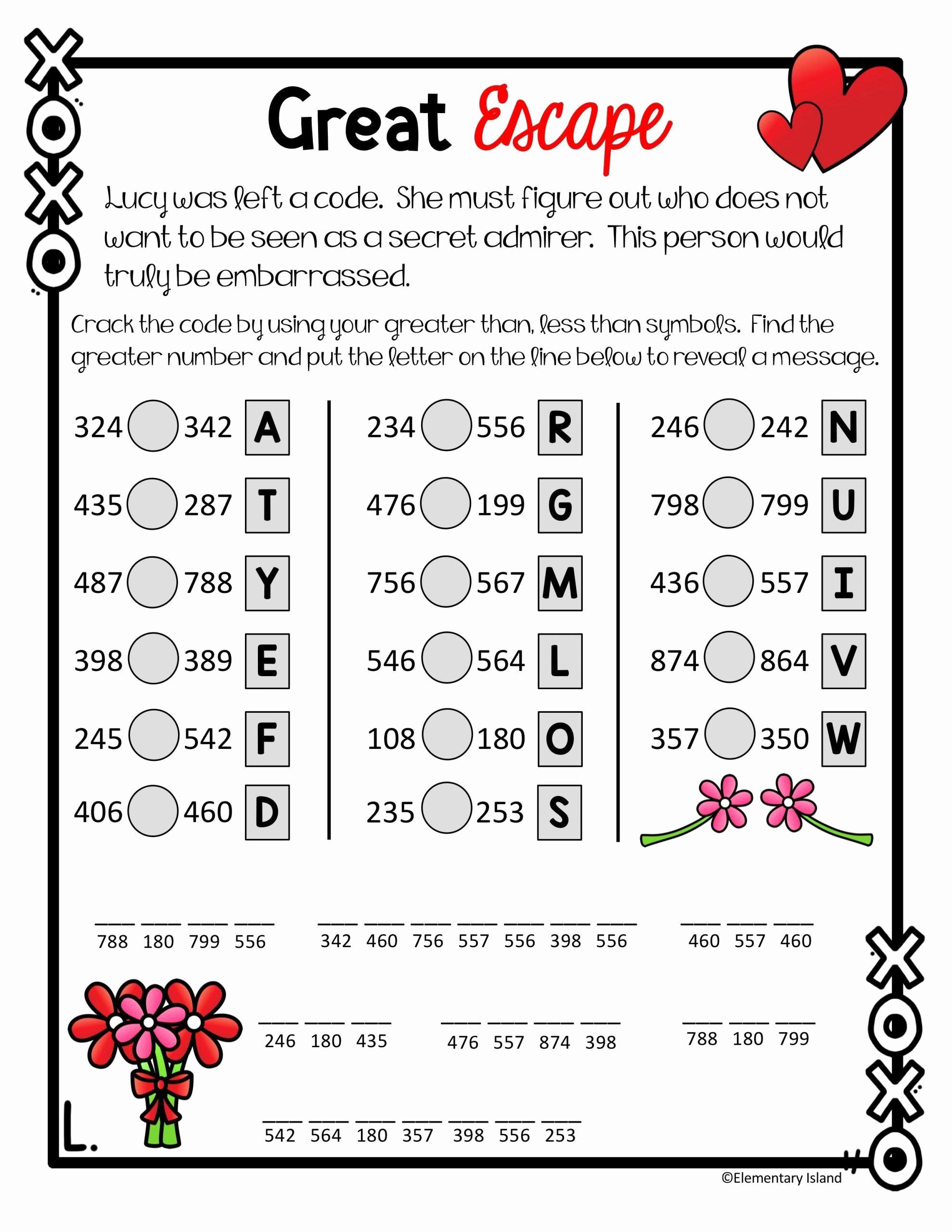 Cracking the Code Math Worksheets Unique 30 Self Esteem Worksheets Girls