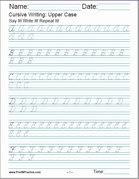 Cursive Alphabet Worksheets Pdf Best Of 50 Cursive Writing Worksheets ⭐ Alphabet Letters