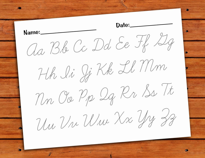 Cursive Alphabet Worksheets Pdf Lovely Cursive Alphabet Trace Worksheet Pdf Printable