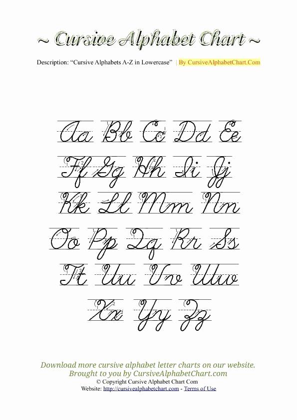 Cursive Alphabet Worksheets Pdf Lovely Uppercase & Lowercase Cursive Alphabet Charts with Arrows