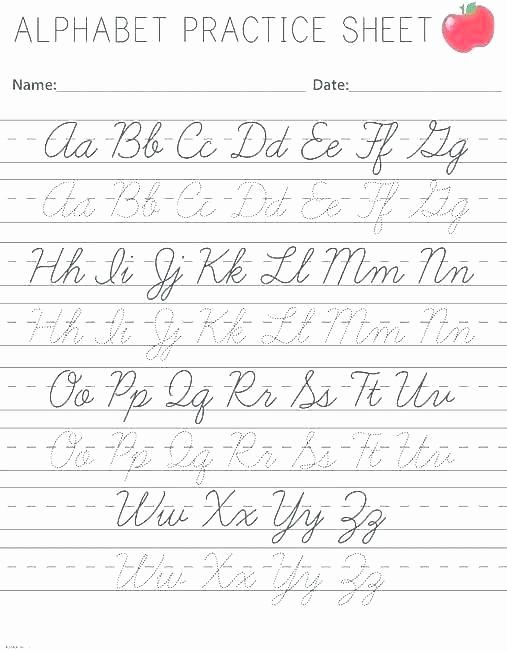 Cursive Alphabet Worksheets Pdf New Cursive Writing Sentences Worksheets Pdf and Cursive