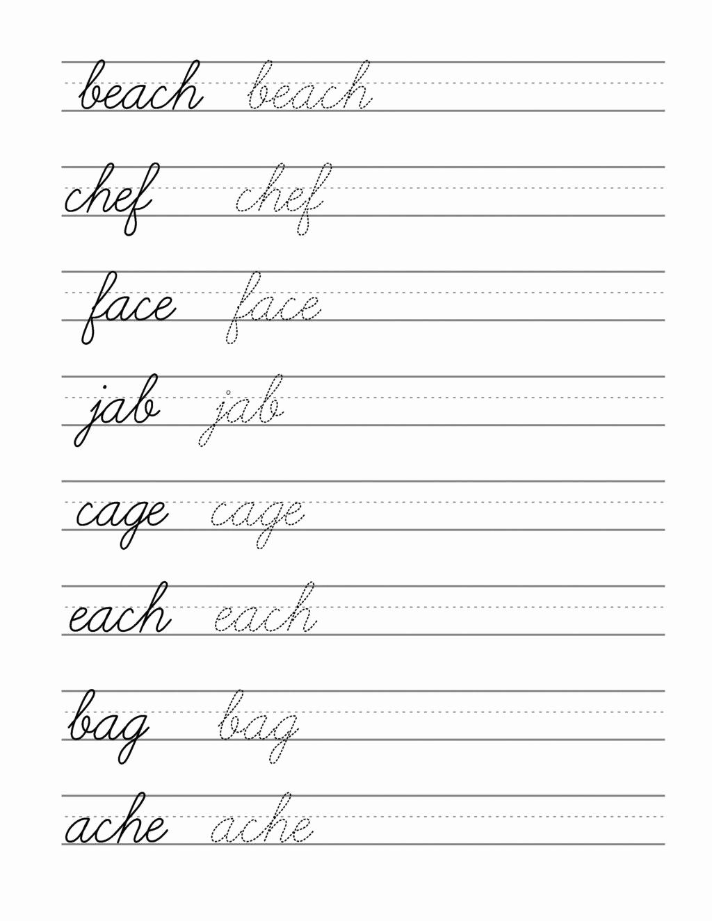 Cursive Alphabet Worksheets Pdf Unique Cursive Writing Tracing Worksheets Pdf
