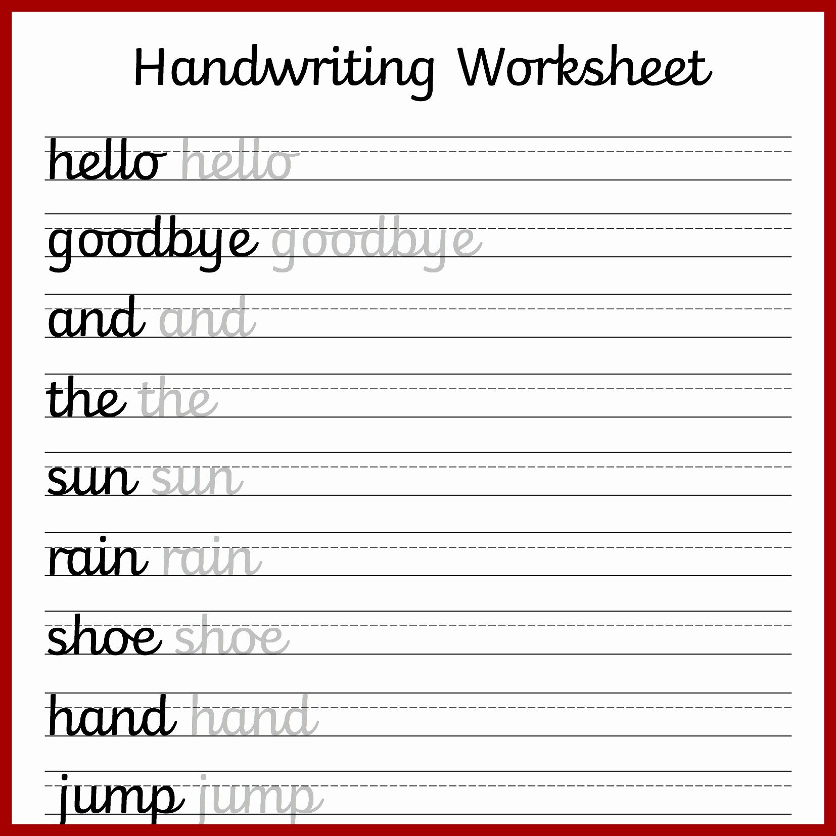 Cursive Sentences Worksheets Printable Awesome Cursive Handwriting Worksheets – Free Printable