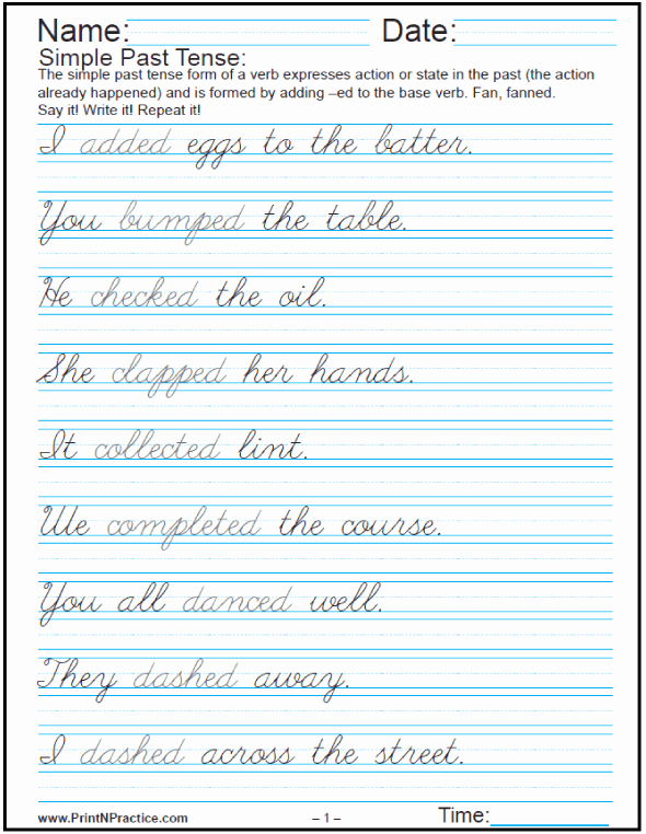 Cursive Sentences Worksheets Printable Lovely Printable Handwriting Worksheets Writing Practice