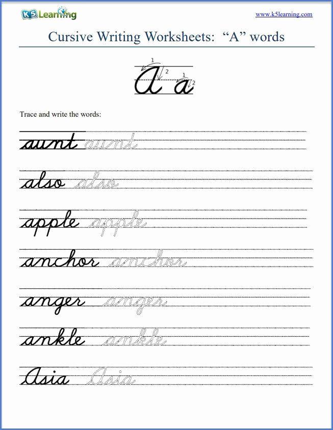 Cursive Sentences Worksheets Printable New Cursive Writing Worksheet Sentences Cursive Writing