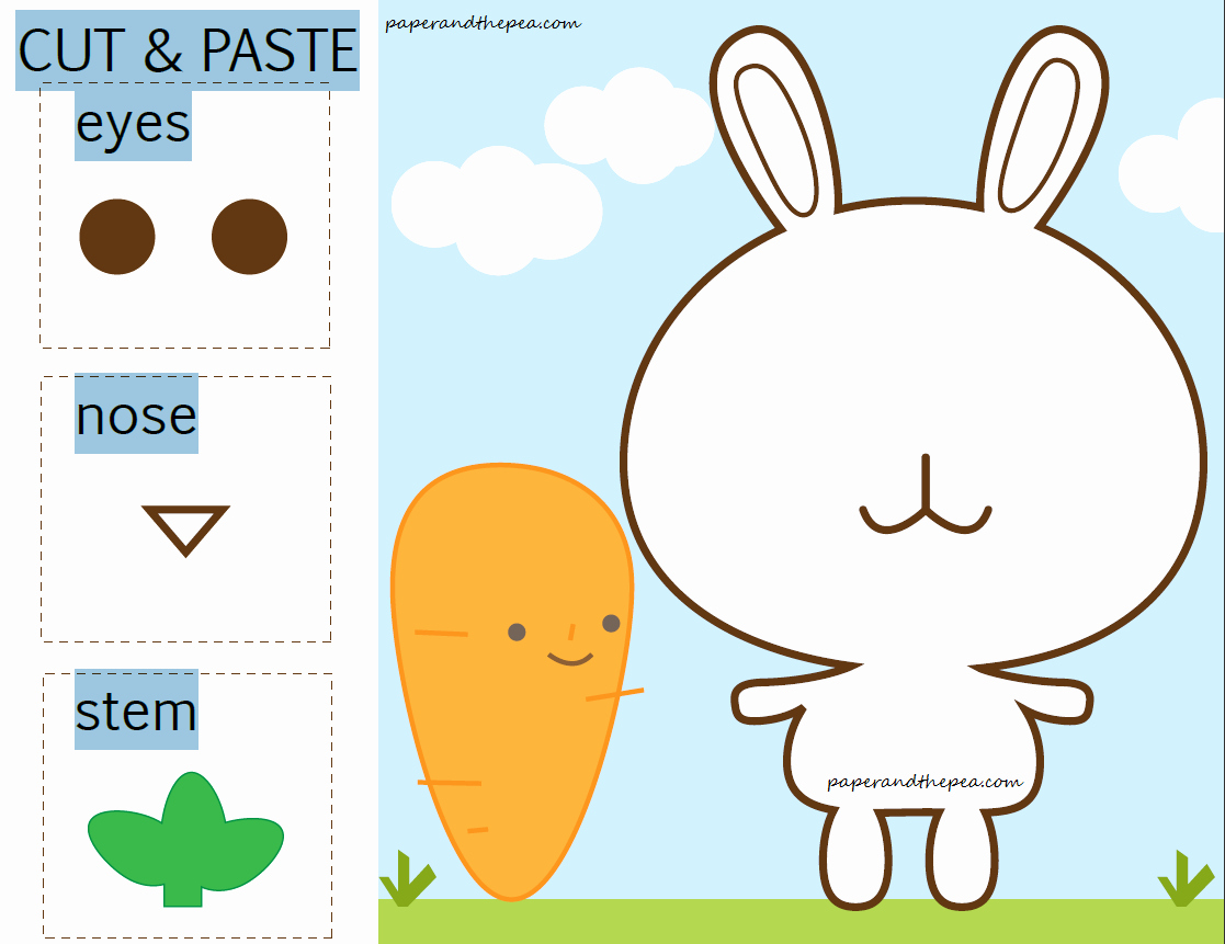 Cut and Paste Worksheets Free Awesome 9 Best Of Cut and Paste Printables Spring Cut and