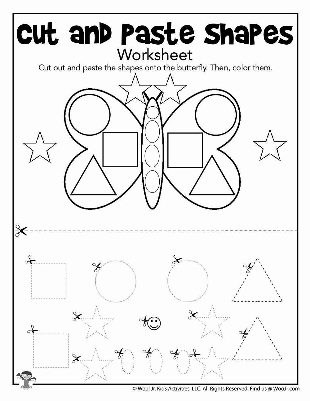 Cut and Paste Worksheets Free Awesome Prek Cut and Paste Shapes Activity Page