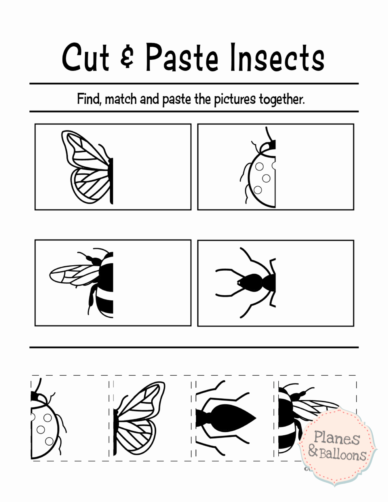 Cut and Paste Worksheets Free Elegant Free Printable Cut and Paste Worksheets for Preschool