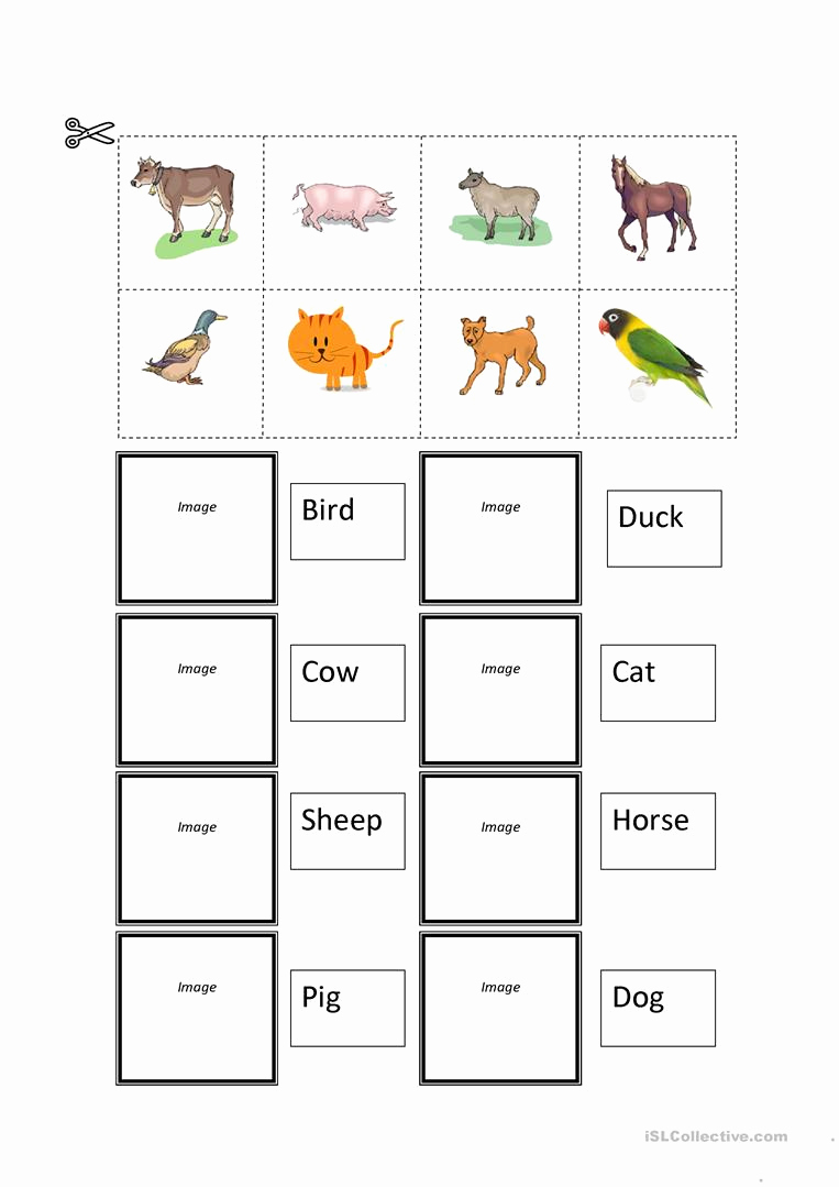 Cut and Paste Worksheets Free Fresh Farm Animals Cut and Paste Worksheet Free Esl Printable