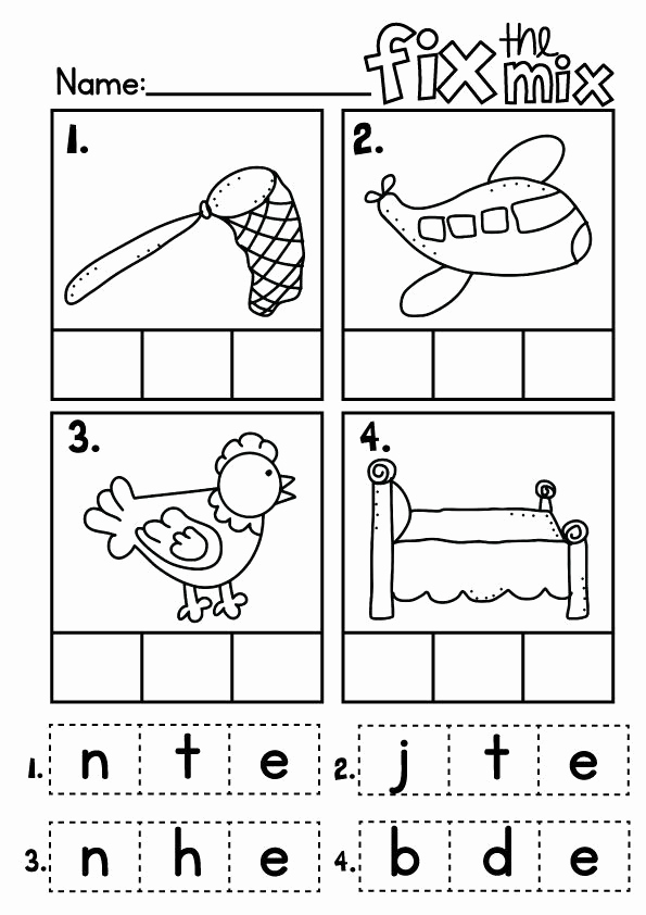 Cut and Paste Worksheets Free Luxury Cvc Worksheet New 757 Cvc Cut and Paste Worksheets Free