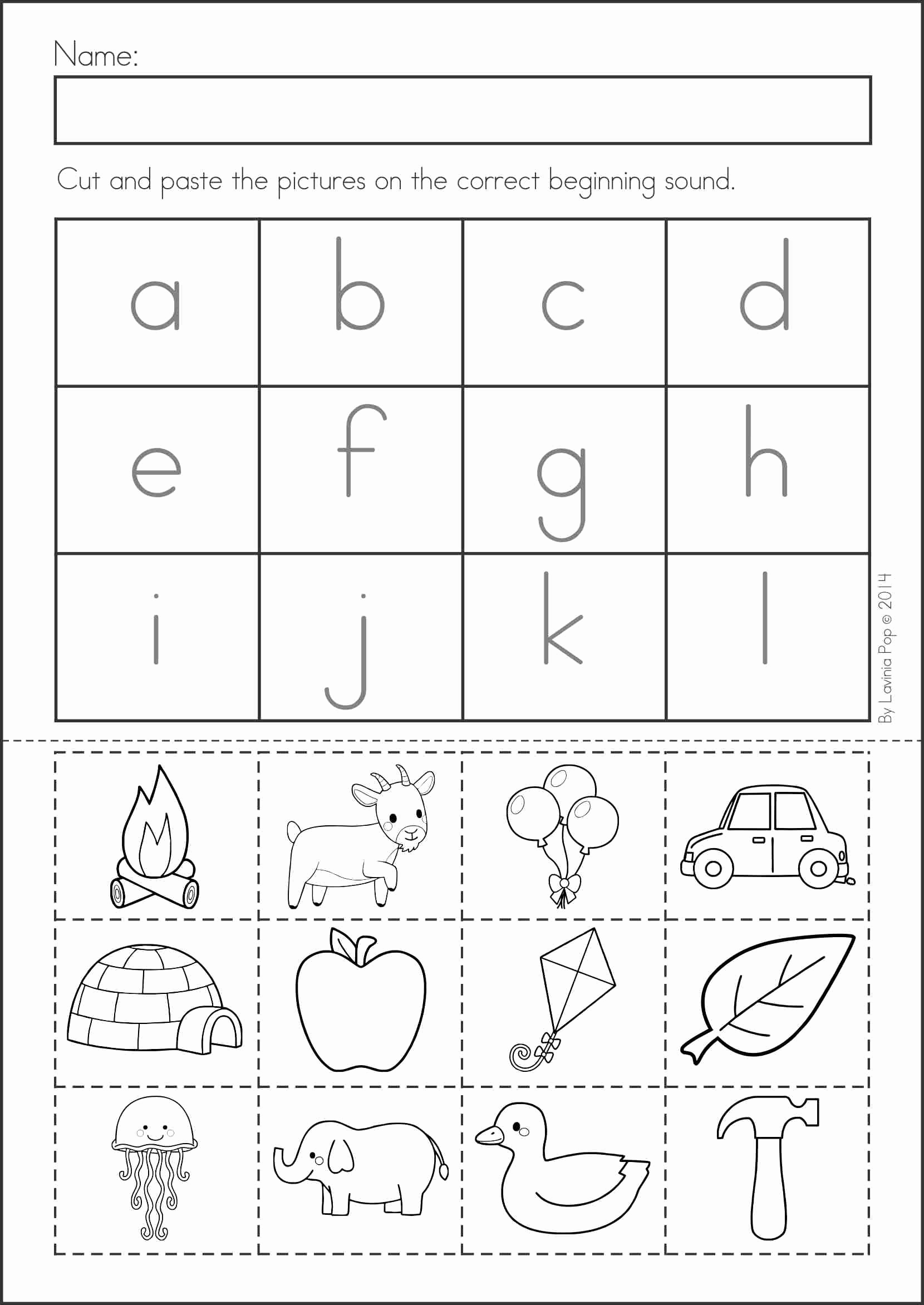 Cut and Paste Worksheets Free Unique Free Printable Cut and Paste Worksheets for Kindergarten