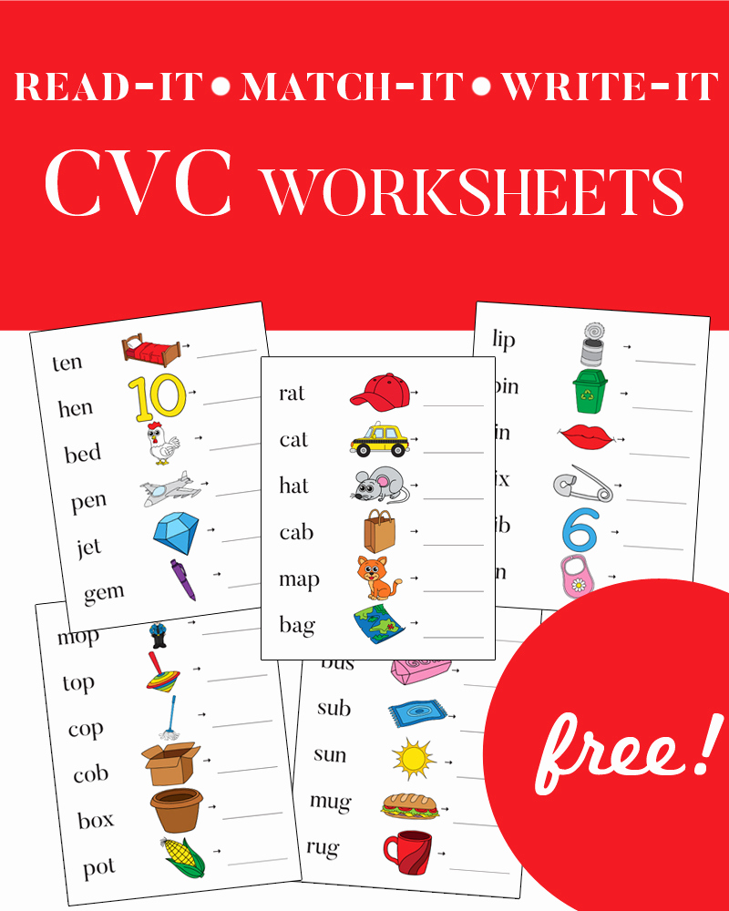 Cvc Worksheet Kindergarten Fresh Cvc Worksheets Phonics for Kids E Beautiful Home
