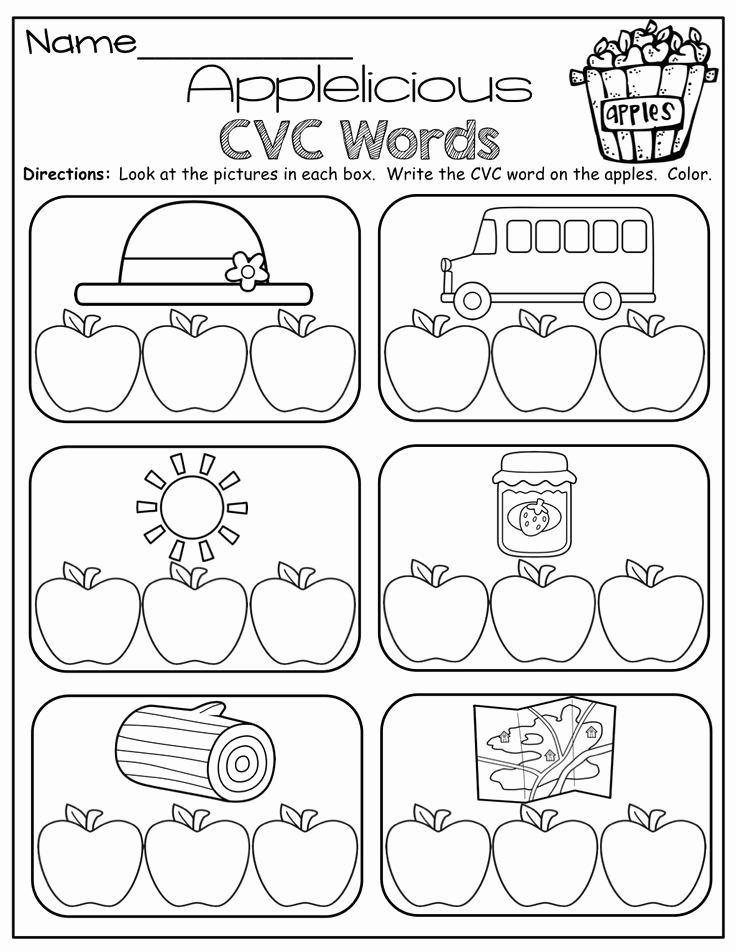 Cvc Worksheet Kindergarten Lovely the Moffatt Girls Fall Math and Literacy Packet