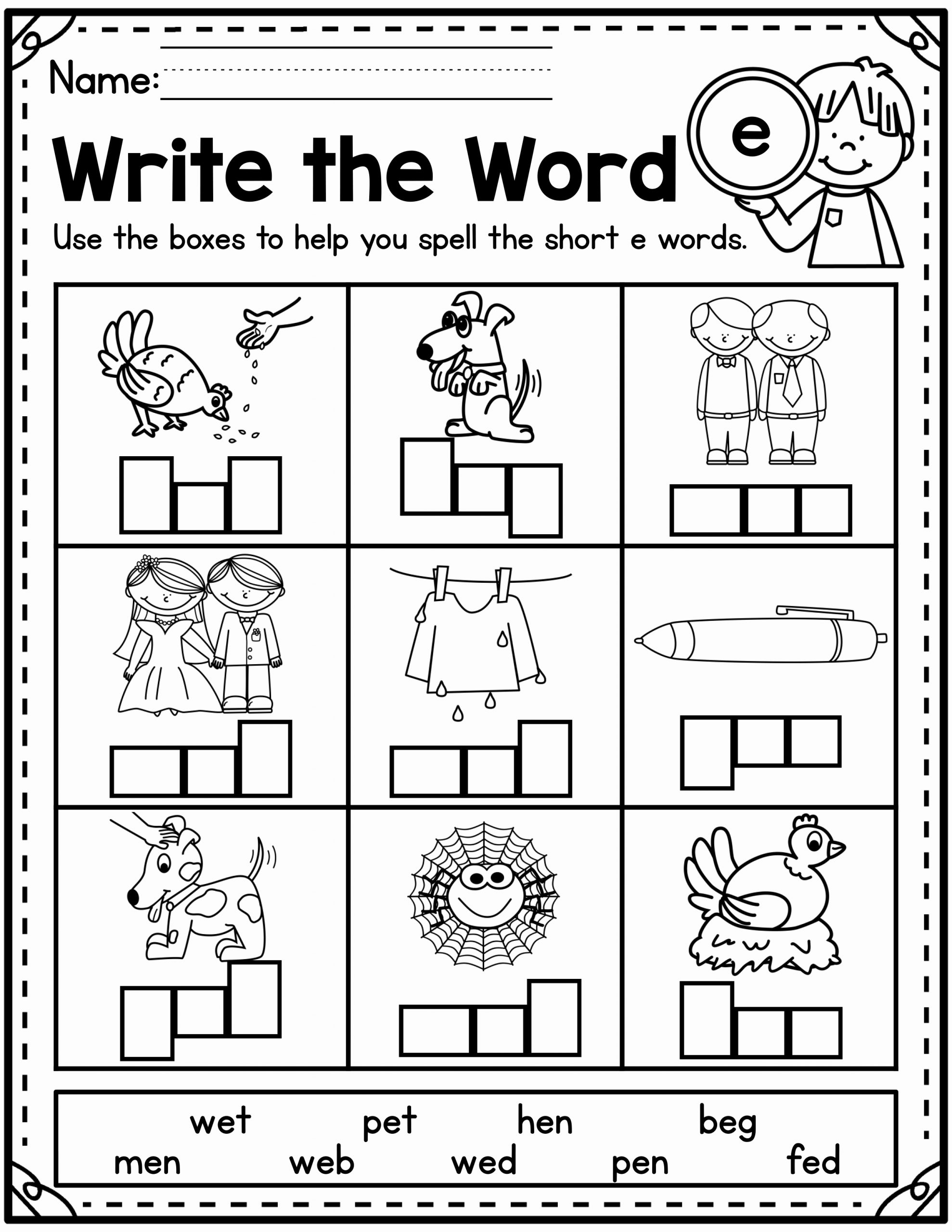 Cvc Worksheet Kindergarten New Cvc Worksheets Madebyteachers