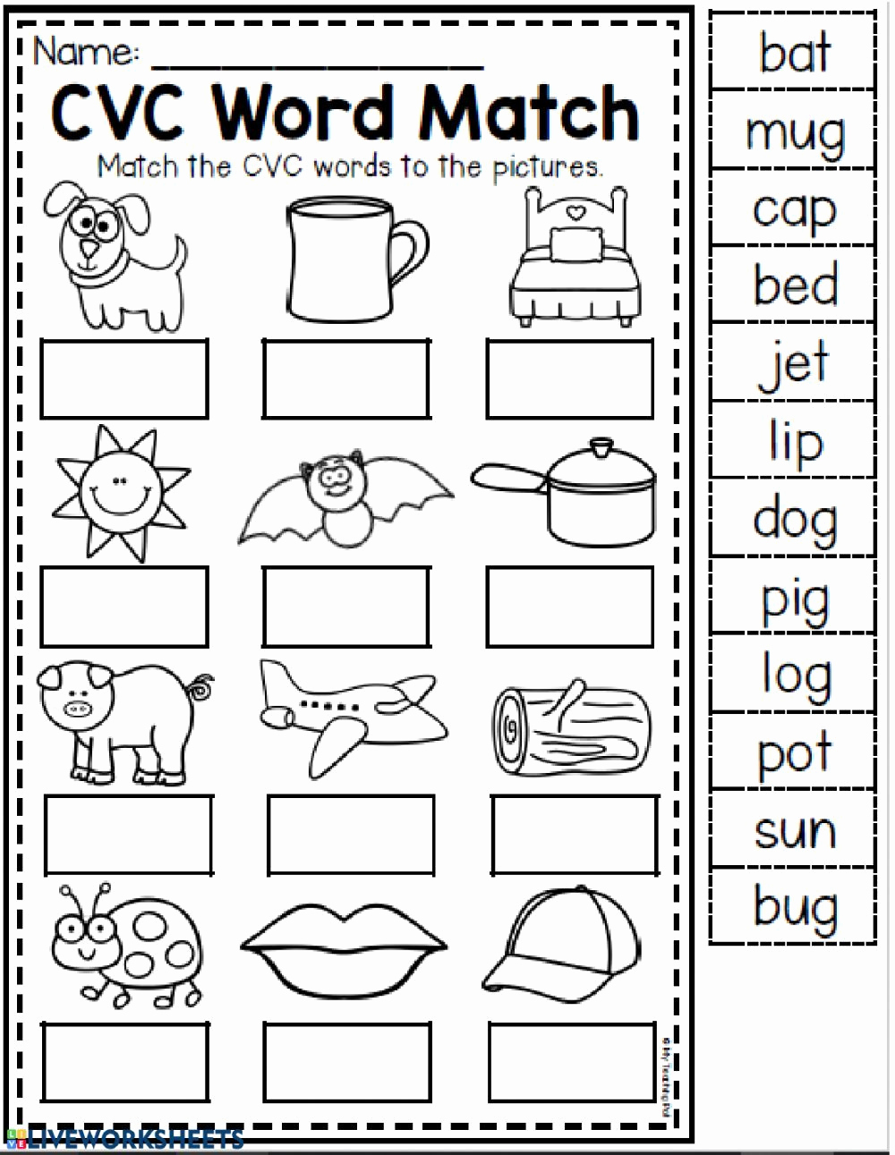 Cvc Worksheets for Kinder Best Of Pin On Classroom