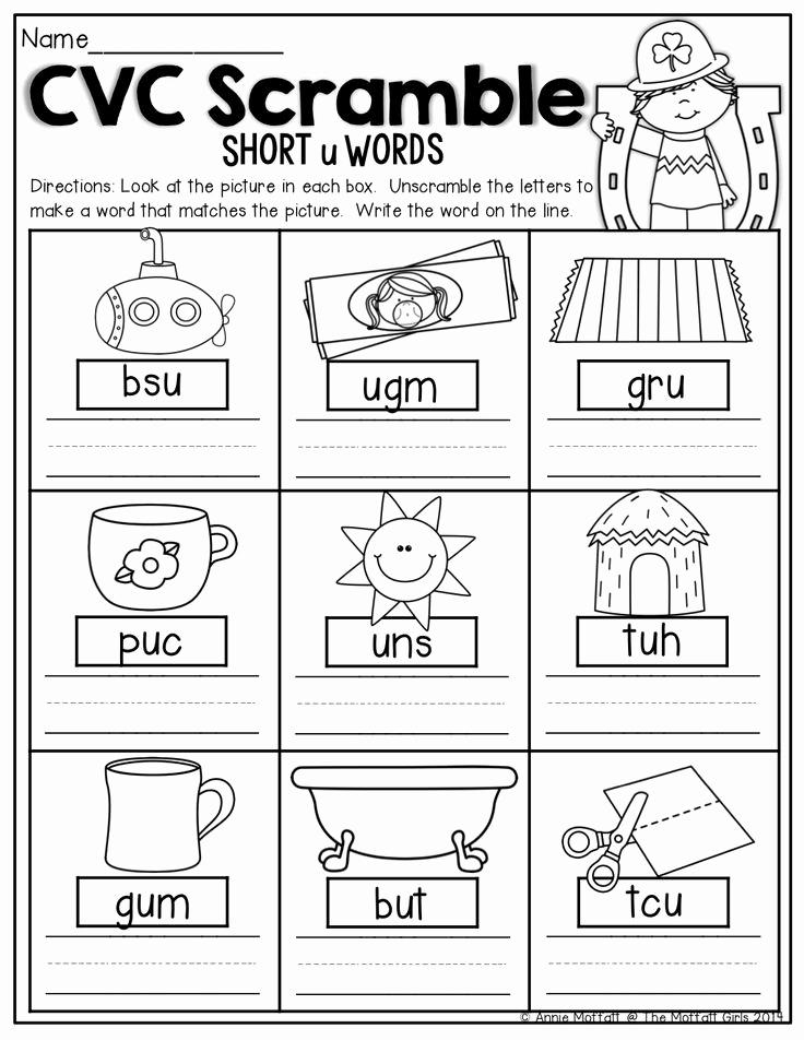 Cvc Worksheets for Kinder Elegant 40 Best Cvc Words Images On Pinterest