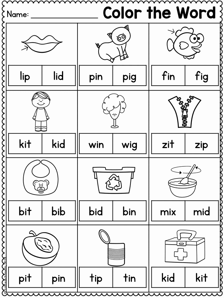 Cvc Worksheets for Kinder Inspirational Cvc Worksheets