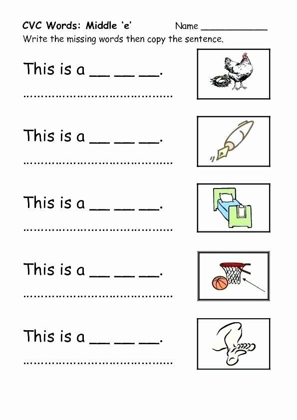 Cvc Worksheets Pdf Best Of Word Work Activities Kindergarten Differentiated