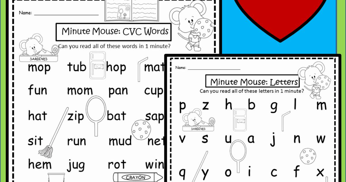 Cvc Worksheets Pdf Elegant Mouse Minute Cvc Words Pdf