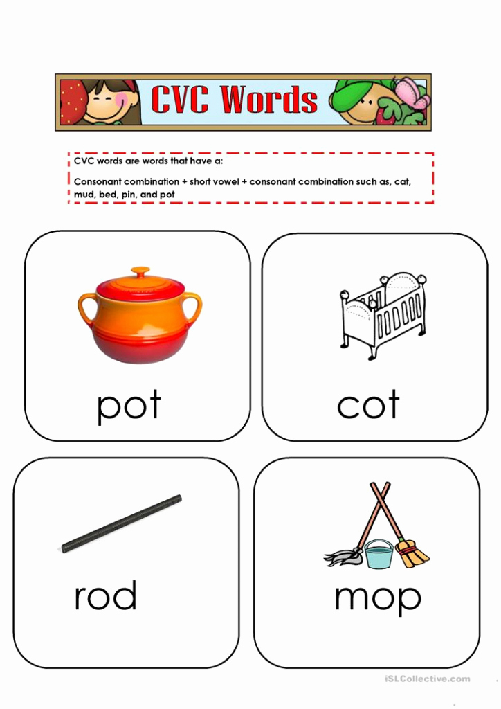Cvc Worksheets Pdf Unique Printable Cvc Word Cards