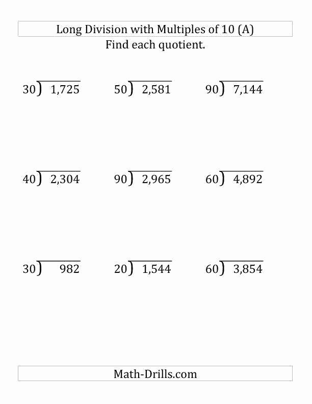 Decimal Long Division Worksheet Elegant Decimal Division Worksheet