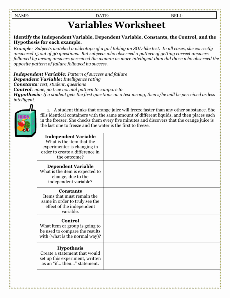 Dependent Probability Worksheets Beautiful 36 Stunning Independent and Dependent Variables Worksheet