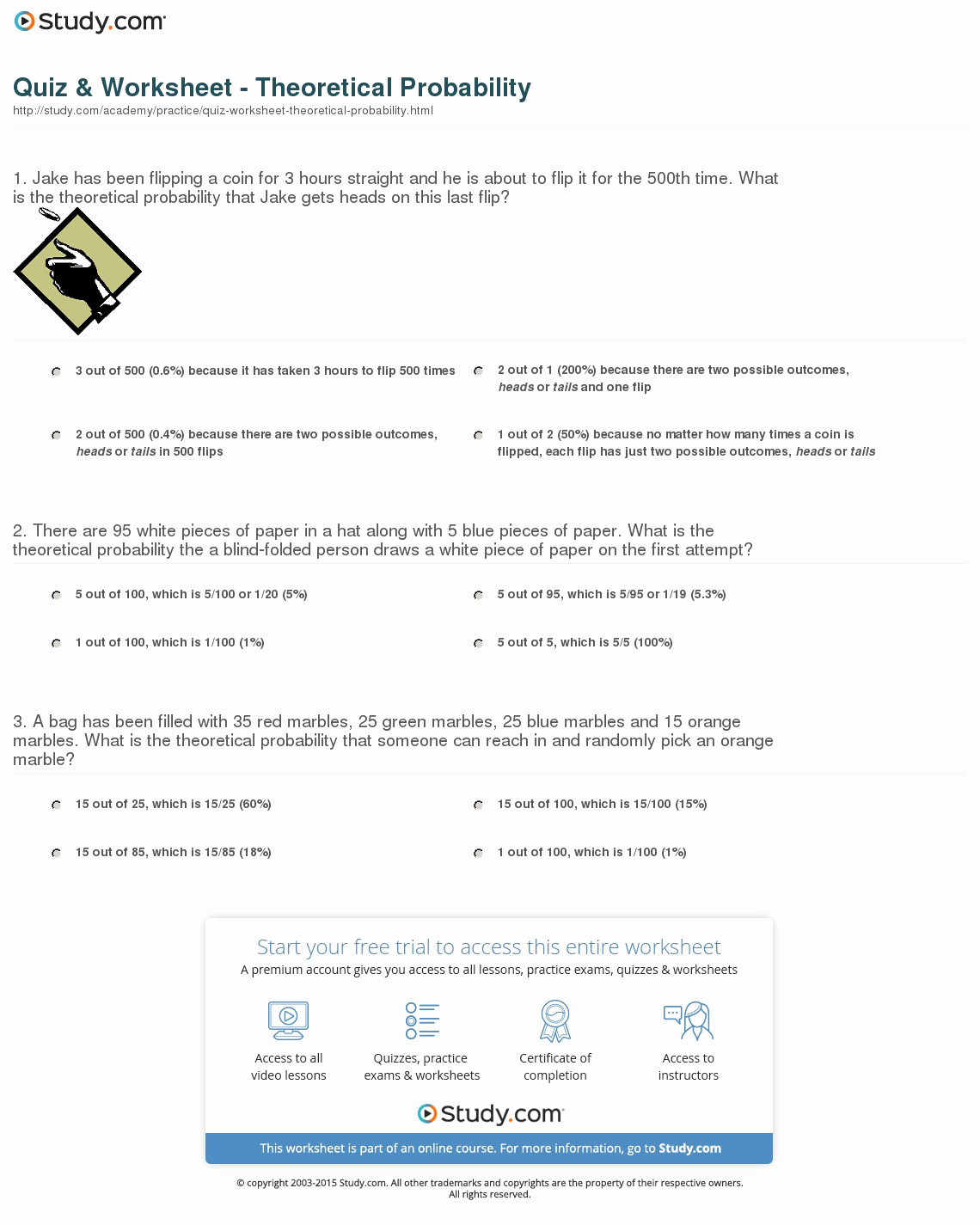 Dependent Probability Worksheets Beautiful Independent and Dependent Probability Worksheet with