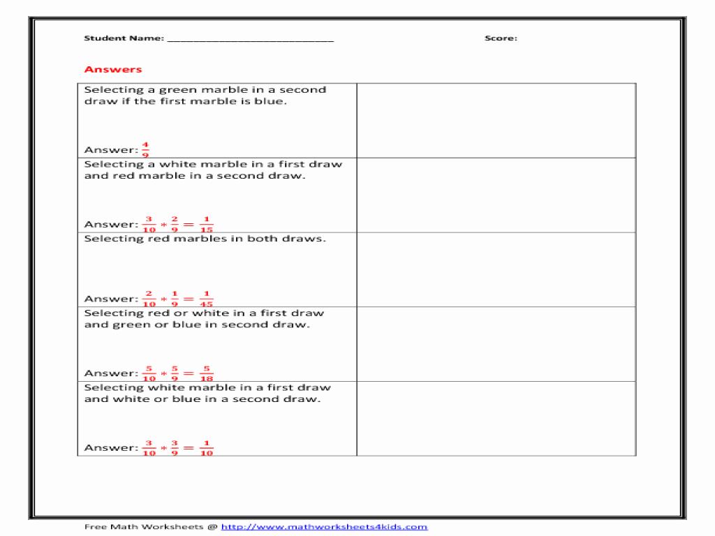 Dependent Probability Worksheets Best Of Select Worksheet Based Variable