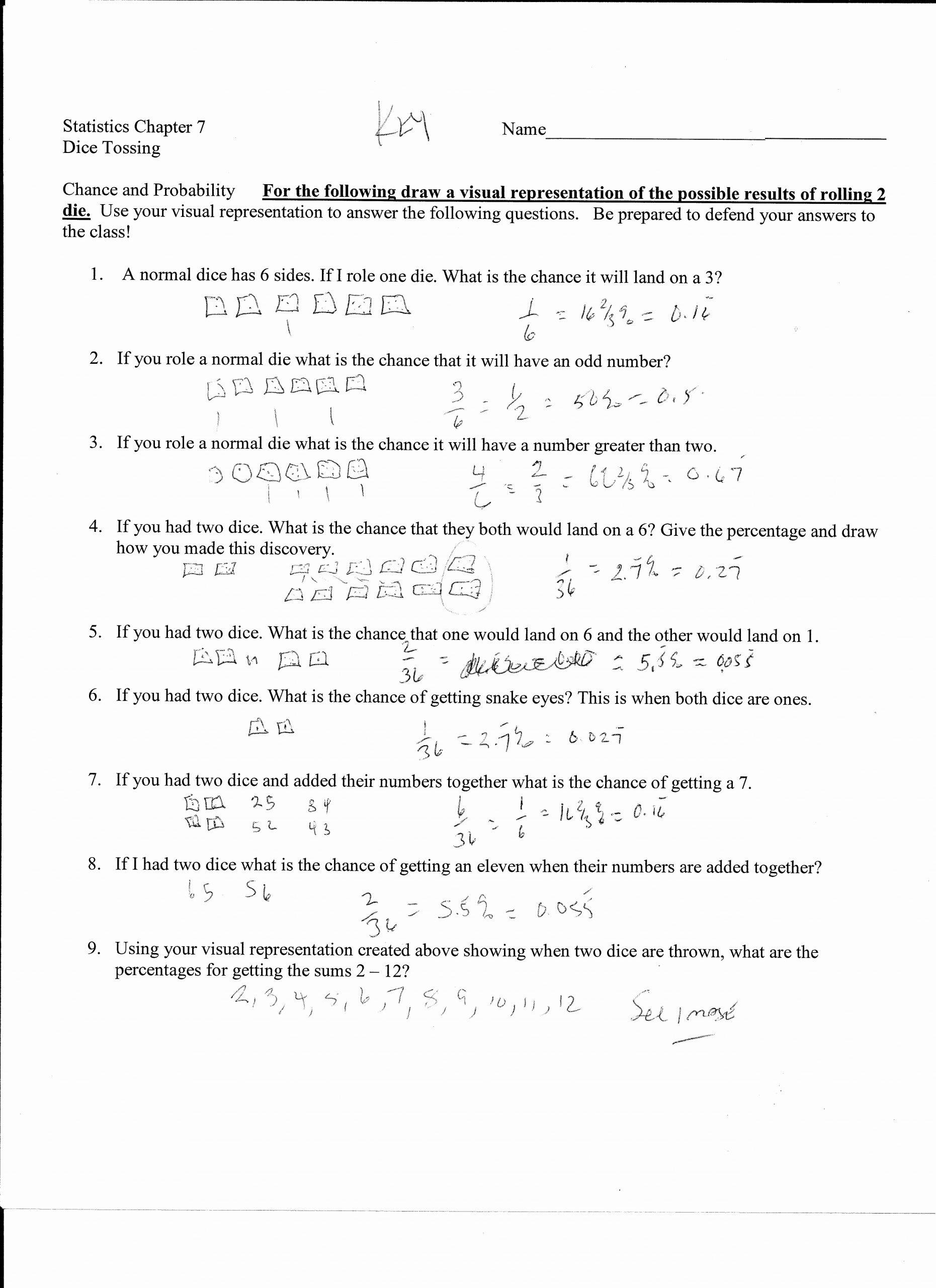 Dependent Probability Worksheets Luxury Probability Worksheet Using Words