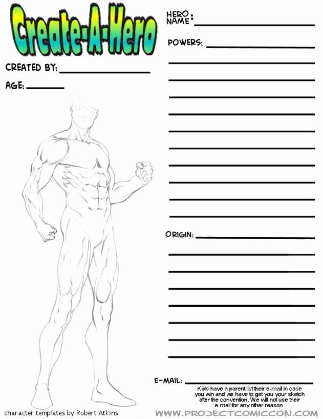 Design Your Own Superhero Worksheet Awesome Robert atkins Art More Superhero Figure Templates