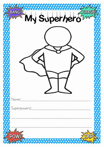 Design Your Own Superhero Worksheet Beautiful Superhero Activities by Gemcorcor Teaching Resources Tes