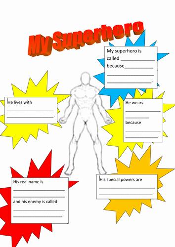Design Your Own Superhero Worksheet Beautiful Superheroes Describing Characters
