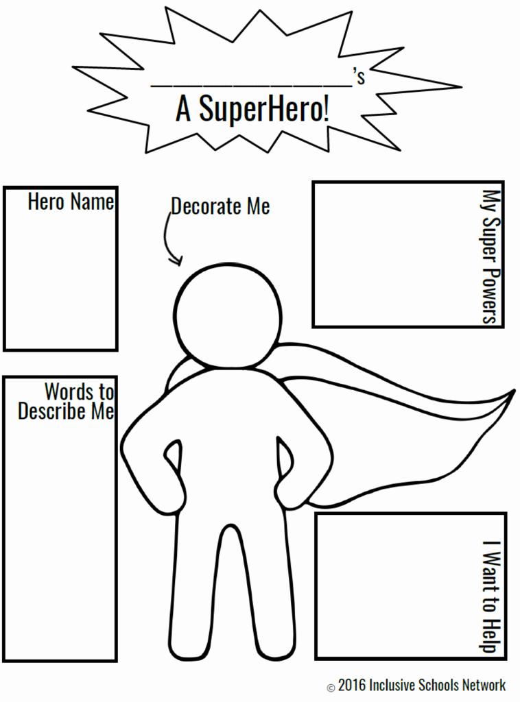 Design Your Own Superhero Worksheet Best Of Champions Of Inclusion isw Activities