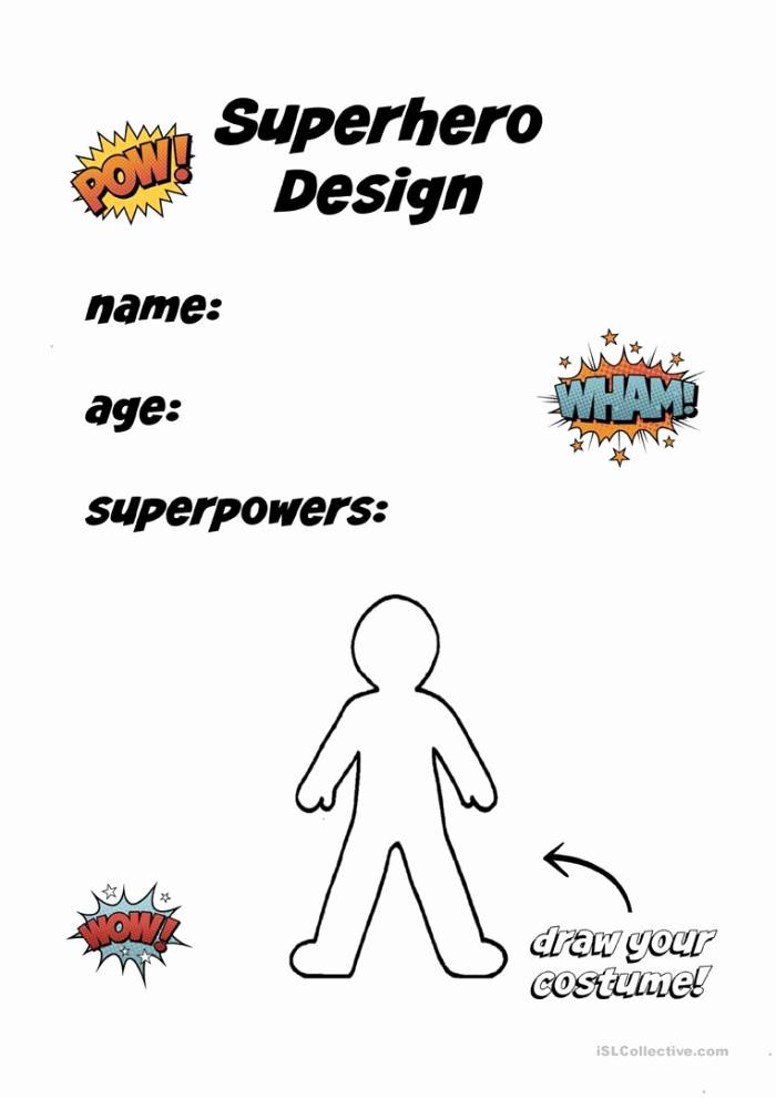 Design Your Own Superhero Worksheet Best Of Create A Superhero Worksheets