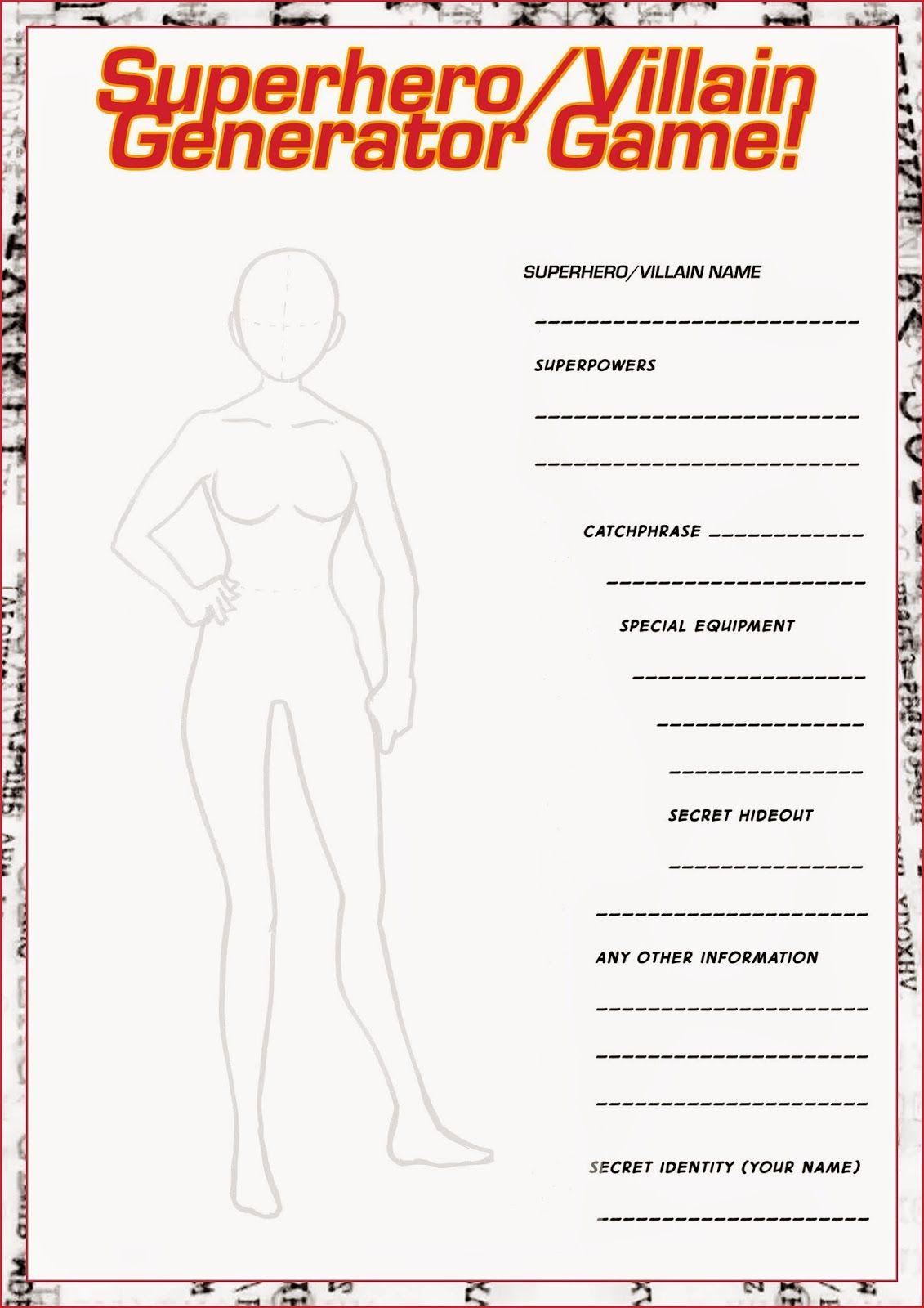 Design Your Own Superhero Worksheet Fresh Pin by Kiwi Tangerine On Class Handouts