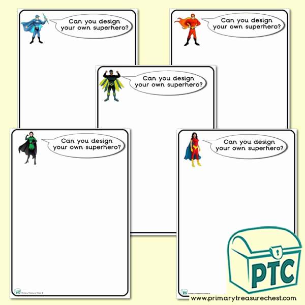 Design Your Own Superhero Worksheet Lovely Design Your Own Superheroes Worksheets Primary Treasure