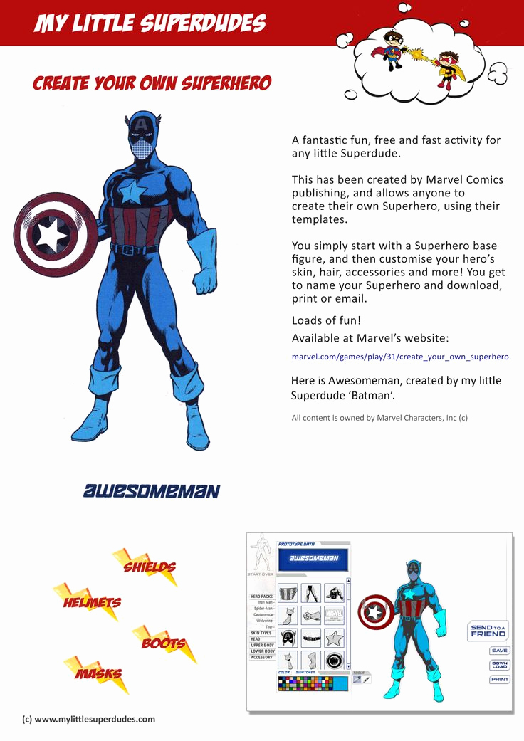 Design Your Own Superhero Worksheet Luxury 32 Best Fun Free Kids Printables and Activities Images On