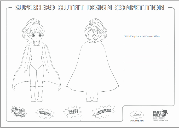 Design Your Own Superhero Worksheet Luxury How Your Kid Can Turn the Lottie Doll Into A Superhero