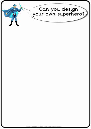 Design Your Own Superhero Worksheet Luxury Superhero Worksheets by Primarytreasurechest Teaching
