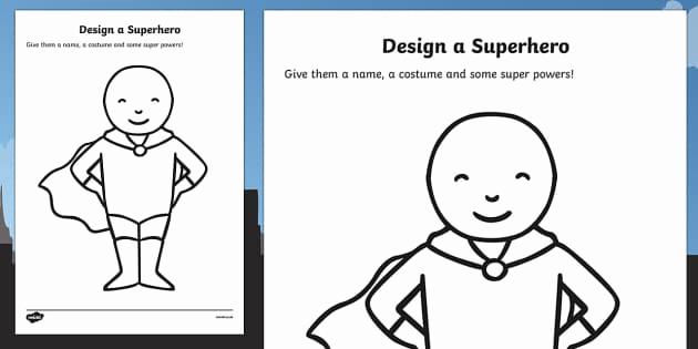 Design Your Own Superhero Worksheet New Create Your Own Superhero Worksheet