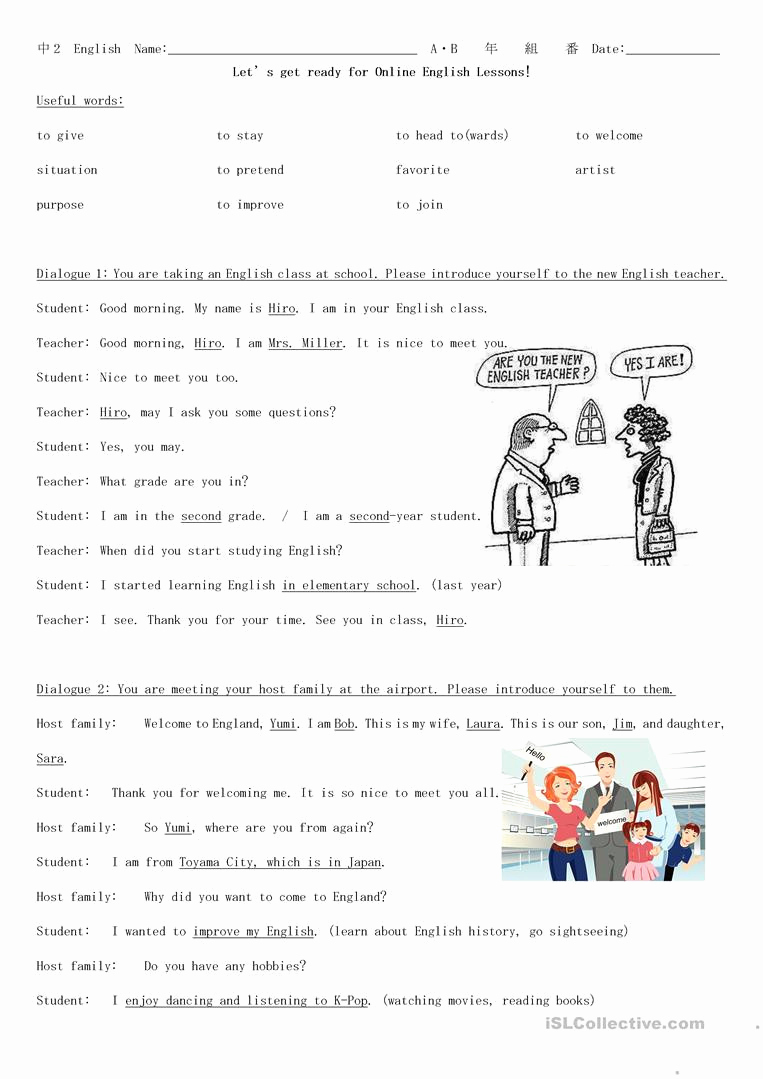 Dialogue Worksheets Middle School Best Of 20 Dialogue Worksheets for Middle School