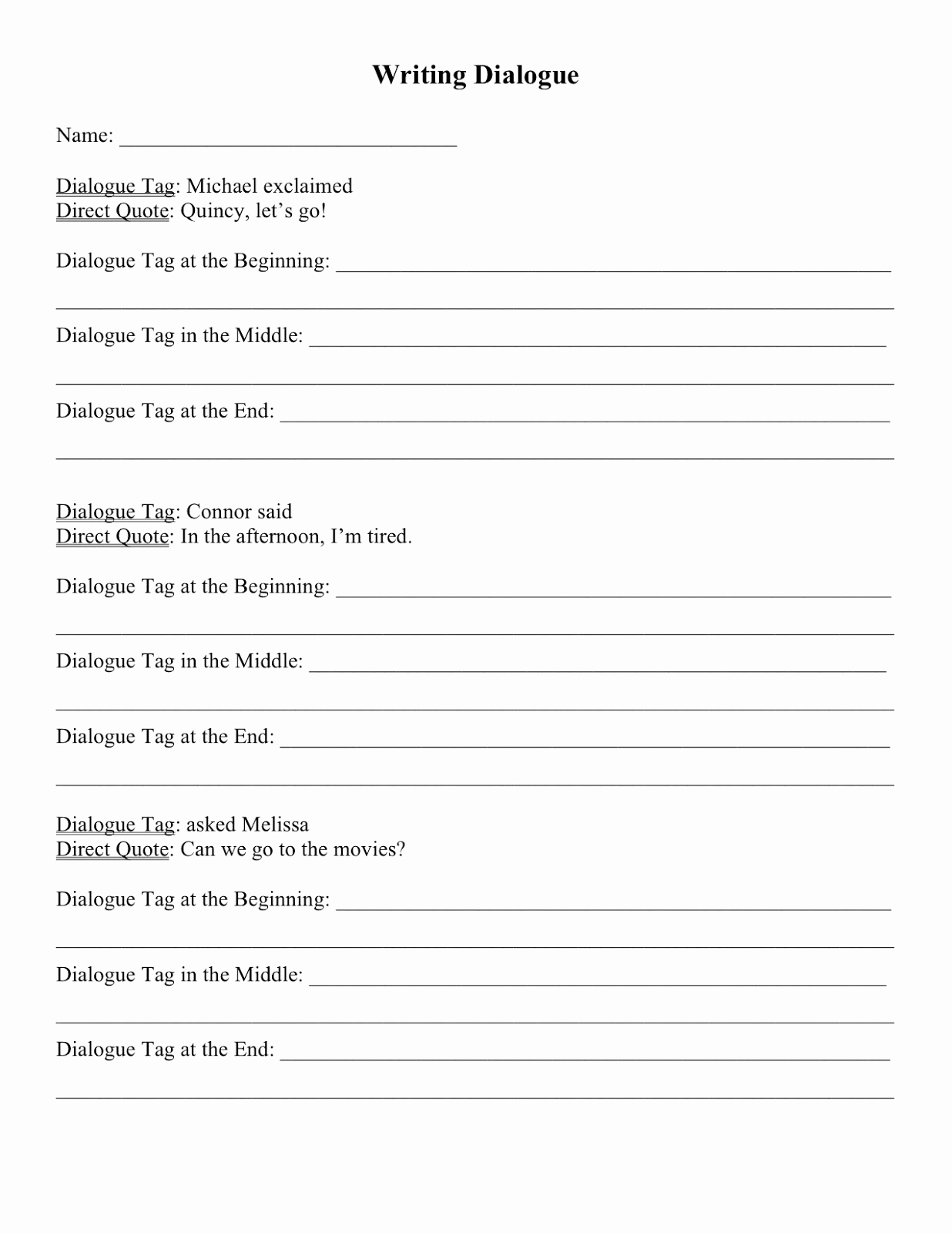 Dialogue Worksheets Middle School Fresh 20 Dialogue Worksheets Middle School