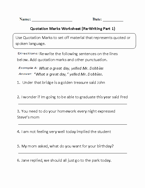 Dialogue Worksheets Middle School Unique Dialogue Worksheets