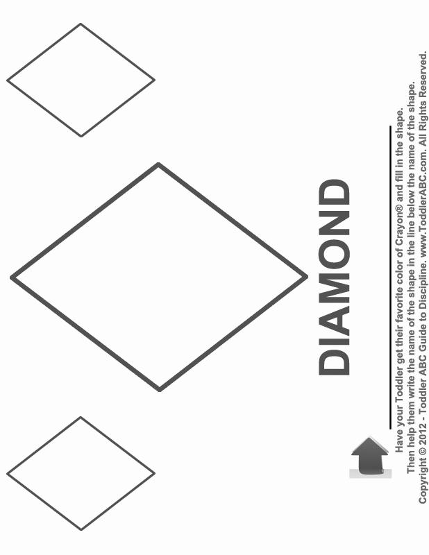 Diamond Worksheets for Preschool Best Of 10 Best Of Diamond Drawing Kindergarten Worksheet