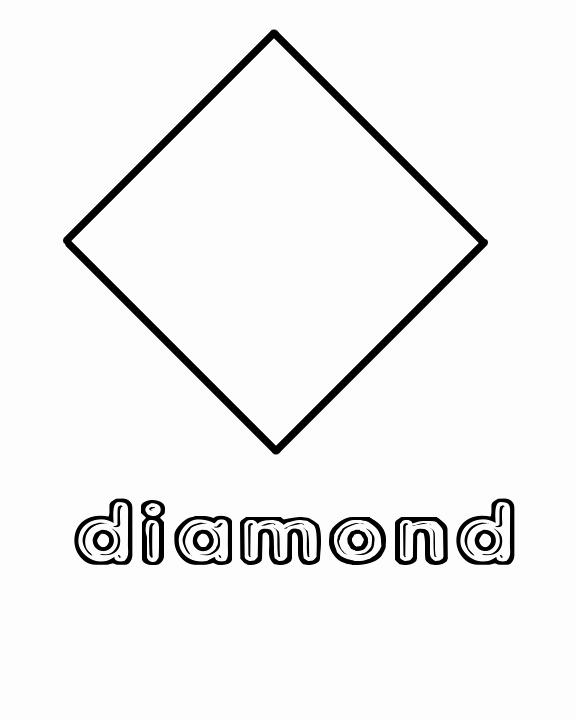 Diamond Worksheets for Preschool Unique Diamond Shape Coloring Pages Getcoloringpages