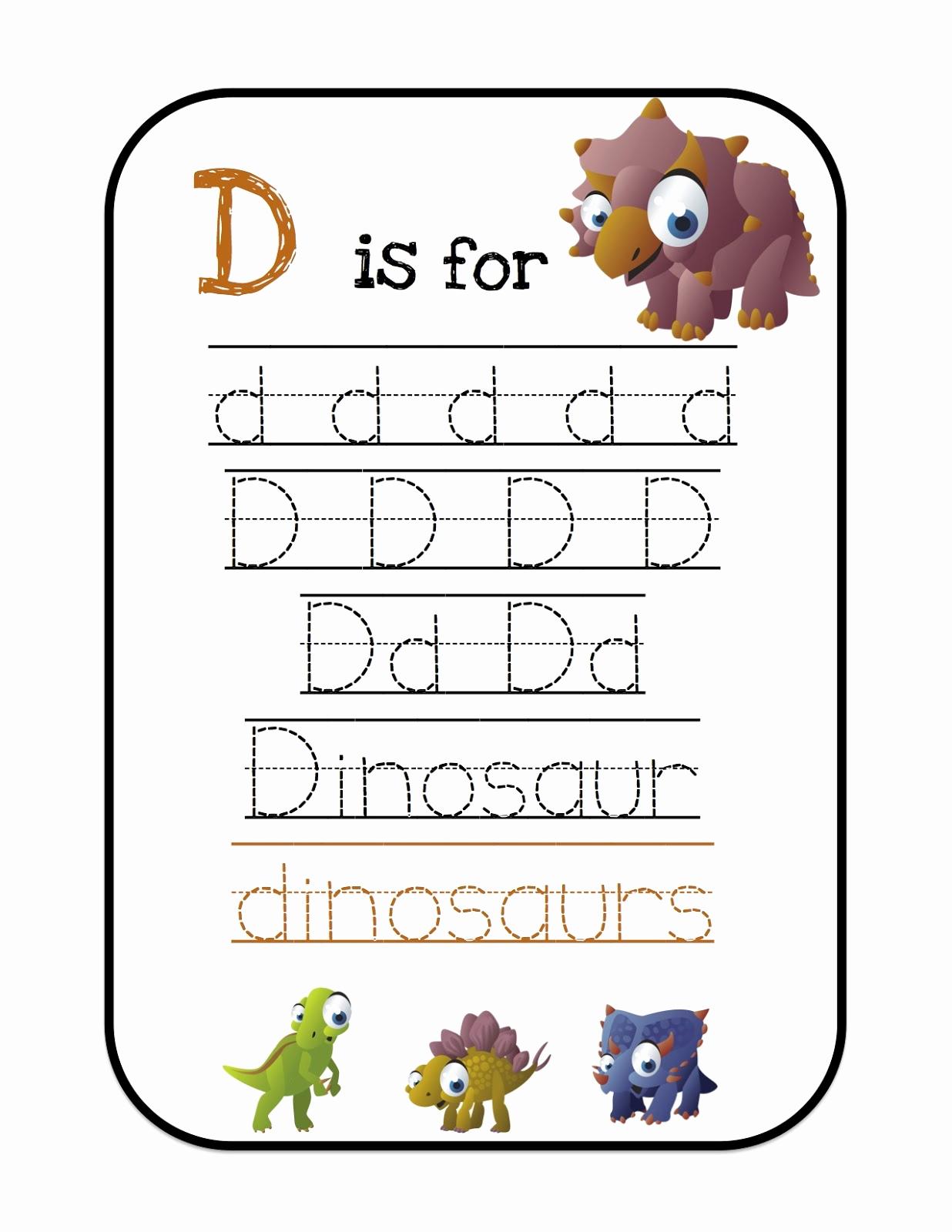 Dinosaur Worksheets for Kindergarten Beautiful Ten Terrible Dinosaurs Printable Preschool Printables