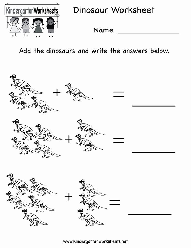Dinosaur Worksheets for Kindergarten Best Of Kindergarten Dinosaur Worksheet Printable