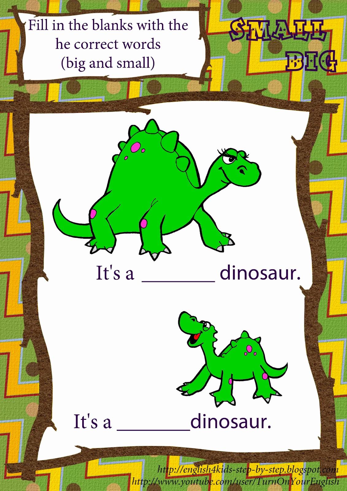 Dinosaur Worksheets for Kindergarten Fresh Dinosaur song for Preschool Kids