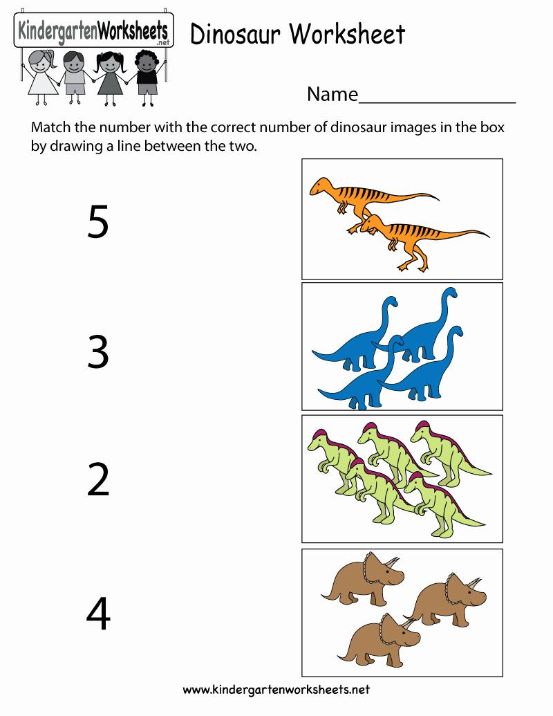 Dinosaur Worksheets for Kindergarten Fresh Dinosaur Worksheets for Preschool — Db Excel